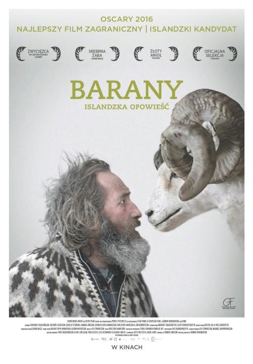 Plakat: Barany. Islandzka opowieść