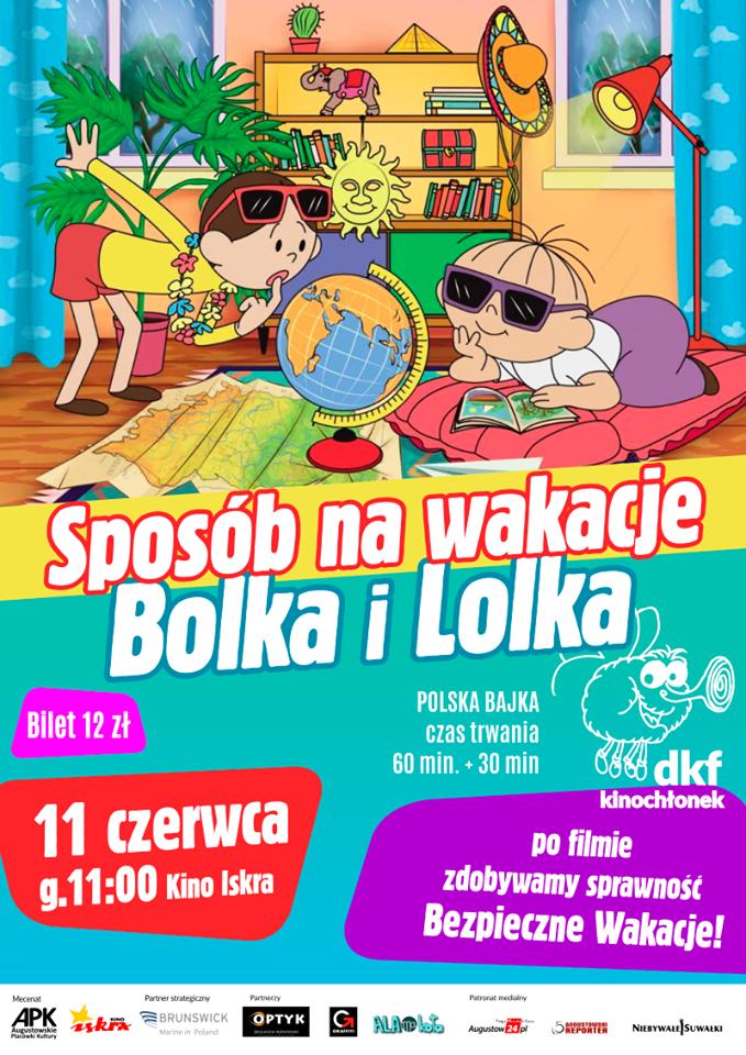 Plakat: Sposób na wakacje Bolka i Lolka
