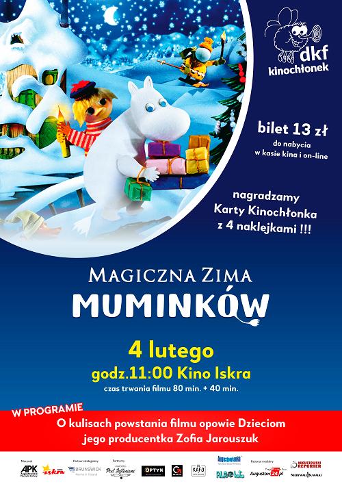 Plakat: Magiczna zima Muminków