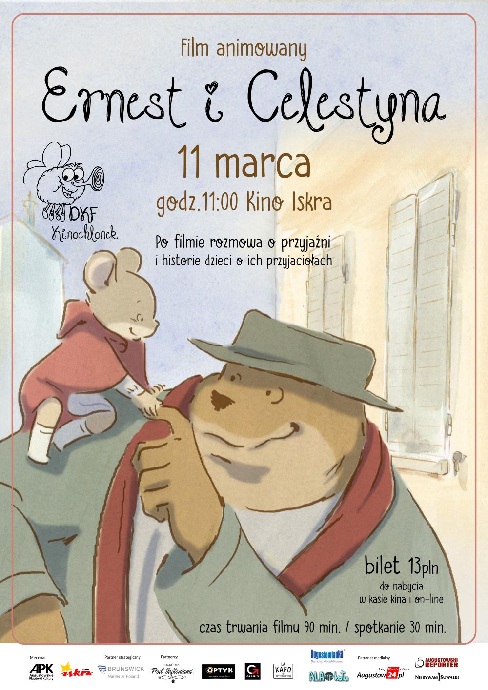 Plakat: Ernest i Celestyna