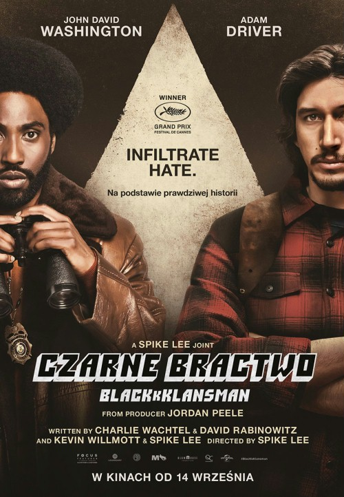 Plakat: Czarne bractwo. BlacKkKlansman