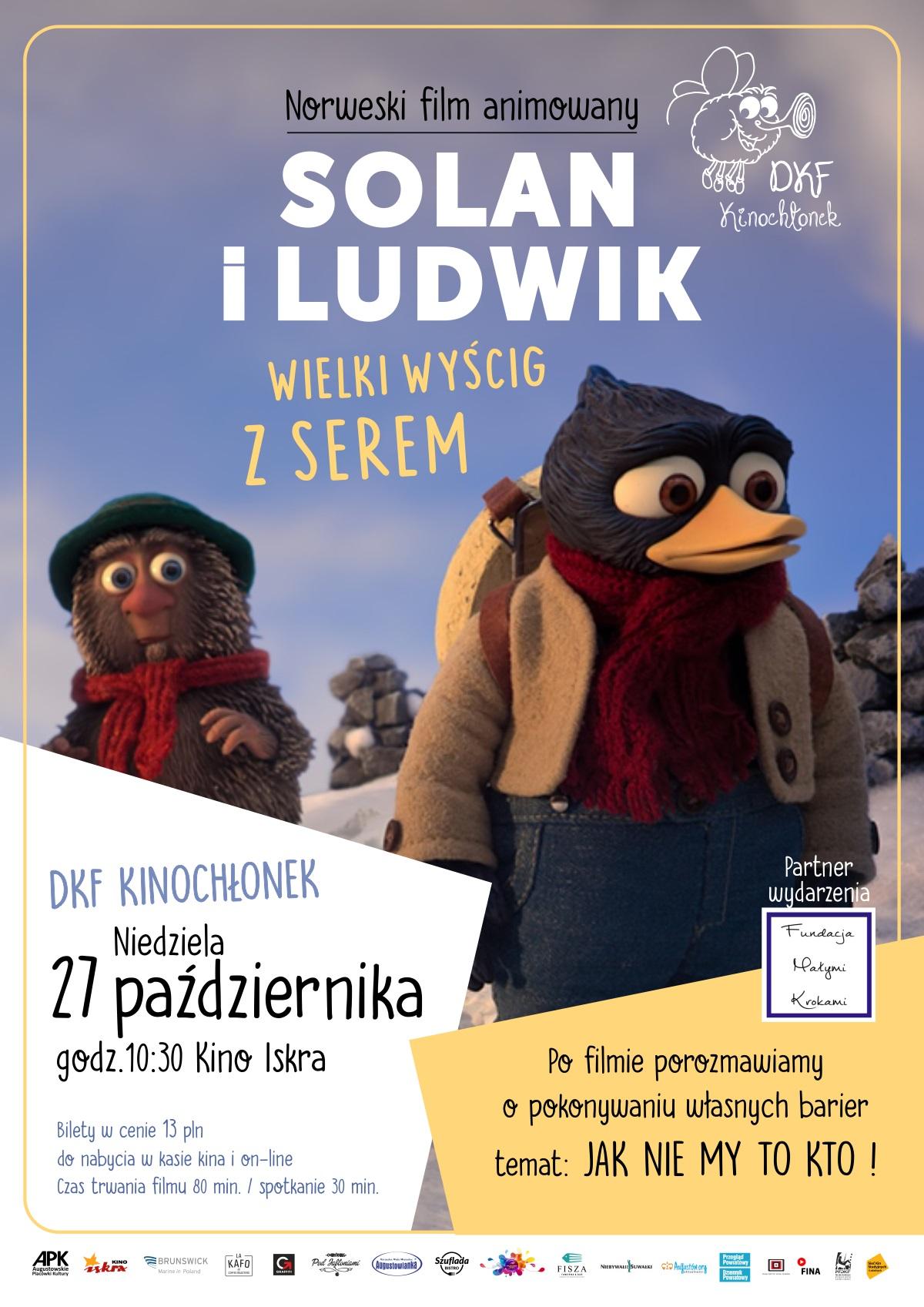Plakat: Solan i Ludwik – wielki wyścig z serem